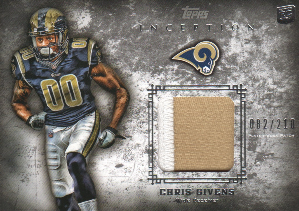 2012 Topps Inception Rookie Relics Patch #RPCGI Chris Givens
