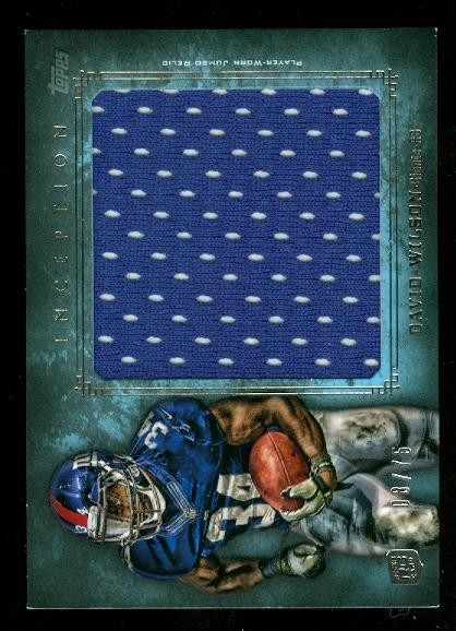 2012 Topps Inception Rookie Relics Jumbo Swatch Blue #JRDW David Wilson