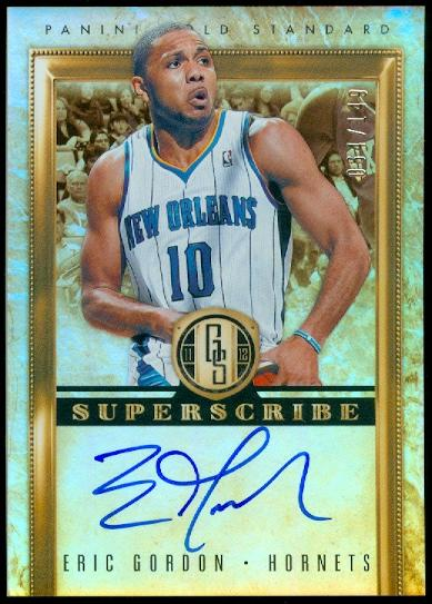 2011-12 Panini Gold Standard Superscribe Autographs #45 Eric Gordon/149