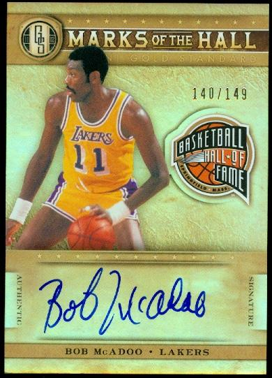 2011-12 Panini Gold Standard Marks of the Hall Autographs #18 Bob McAdoo/149