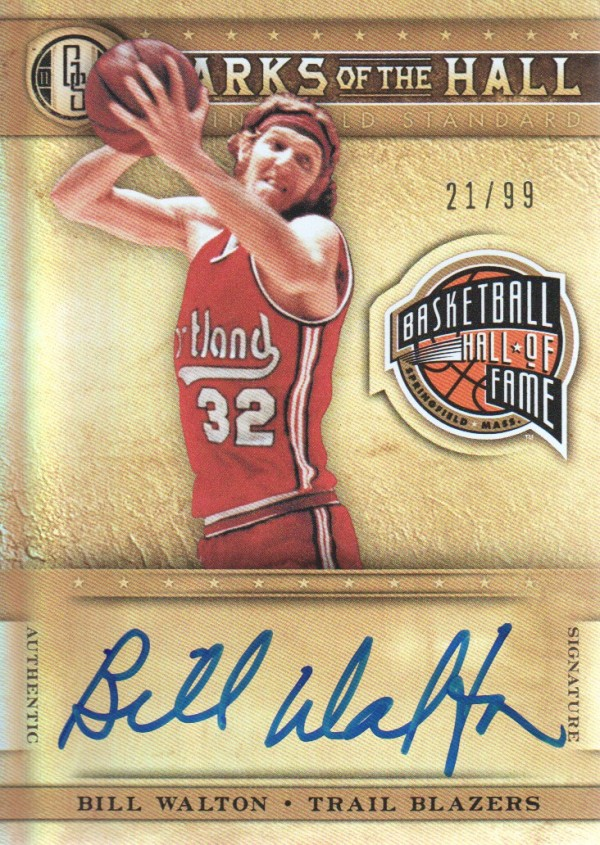 2011-12 Panini Gold Standard Marks of the Hall Autographs #29 Bill Walton/99
