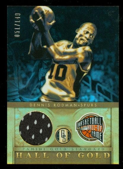 2011-12 Panini Gold Standard Hall of Gold Materials #2 Dennis Rodman/149