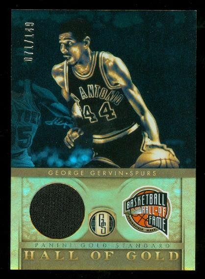 2011-12 Panini Gold Standard Hall of Gold Materials #5 George Gervin/149