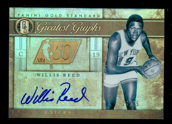 2011-12 Panini Gold Standard Greatest Graphs #23 Willis Reed/25
