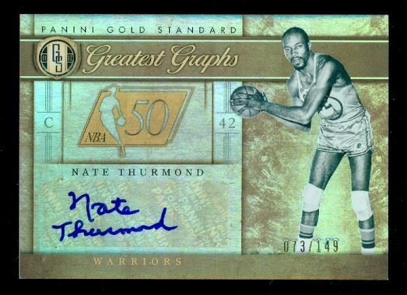2011-12 Panini Gold Standard Greatest Graphs #31 Nate Thurmond/149