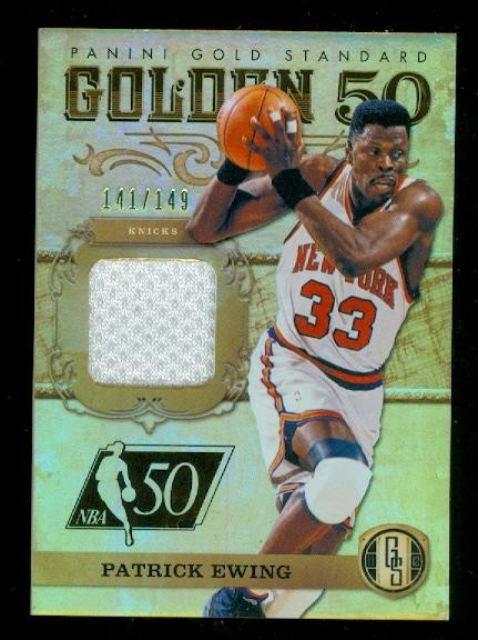 2011-12 Panini Gold Standard Golden 50 Materials #8 Patrick Ewing/149
