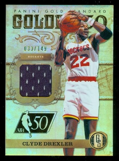 2011-12 Panini Gold Standard Golden 50 Materials #12 Clyde Drexler/149