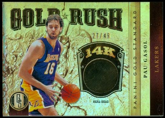 2011-12 Panini Gold Standard Gold Rush #30 Pau Gasol