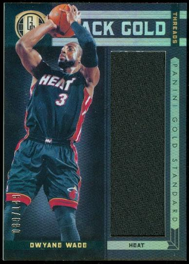2011-12 Panini Gold Standard Black Gold Threads #15 Dwyane Wade/149