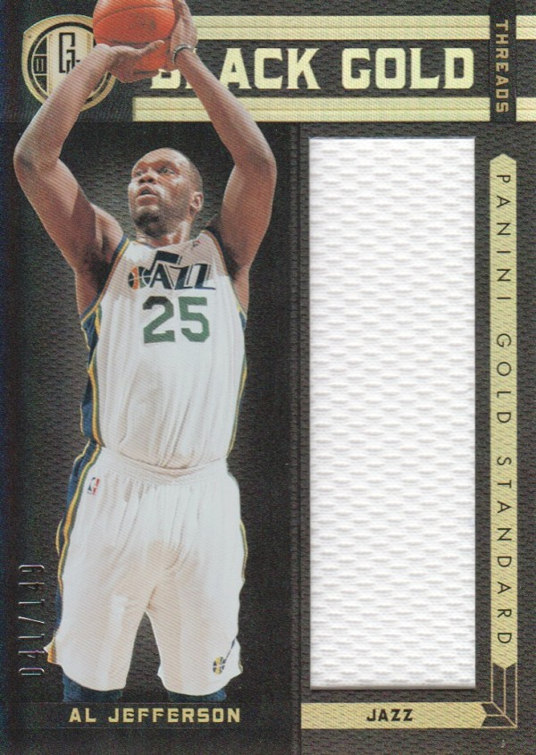 2011-12 Panini Gold Standard Black Gold Threads #19 Al Jefferson/149