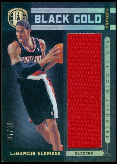 2011-12 Panini Gold Standard Black Gold Threads #28 LaMarcus Aldridge/49