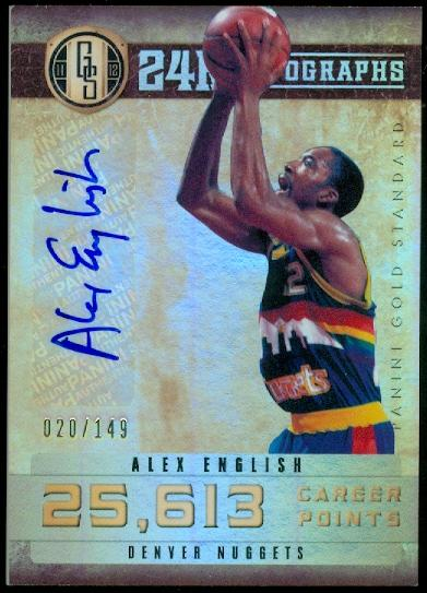 2011-12 Panini Gold Standard 24K Autographs #12 Alex English/149
