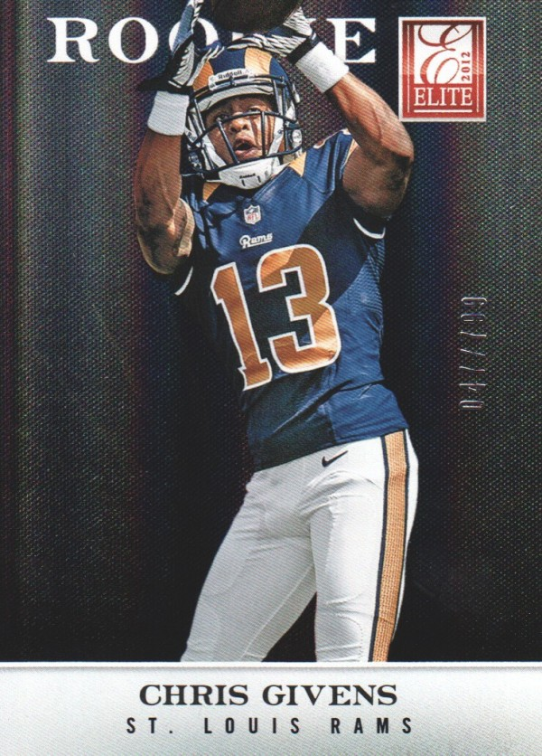 2012 Elite #139 Chris Givens/799 RC