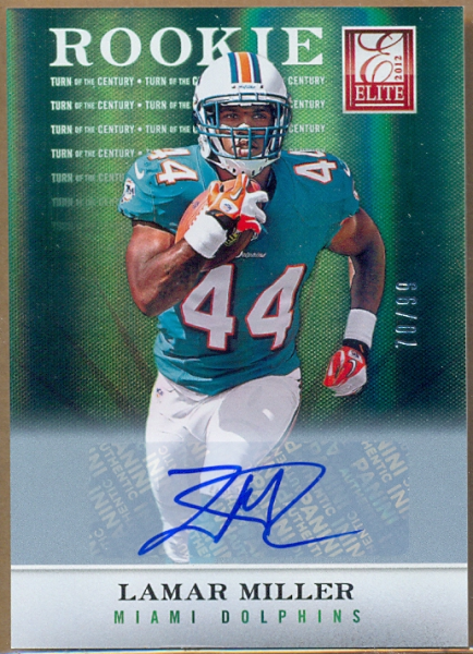 2012 Elite Turn of the Century Autographs #133 Lamar Miller/99