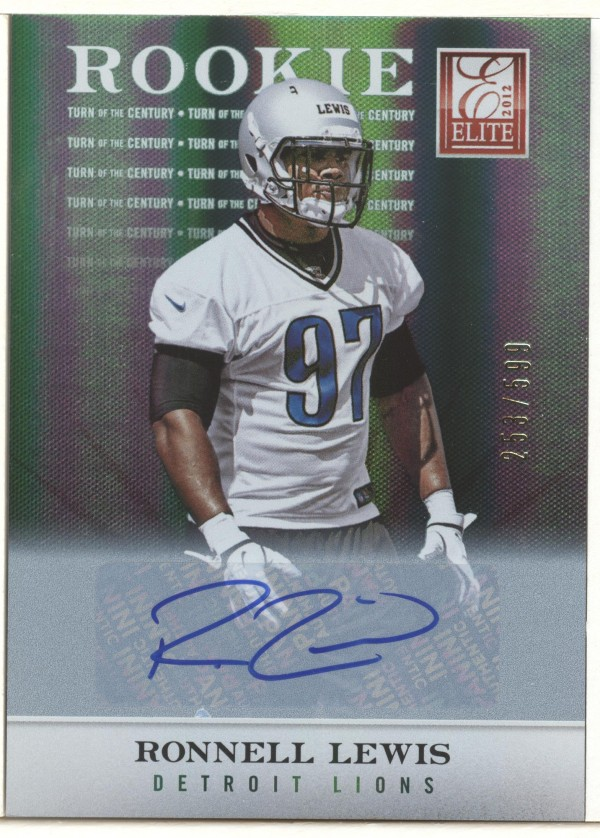 2012 Elite Turn of the Century Autographs #144 Ronnell Lewis/599