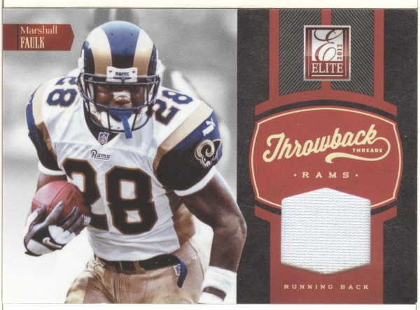 2012 Elite Throwback Threads #19 Marshall Faulk/108/Steven Jackson