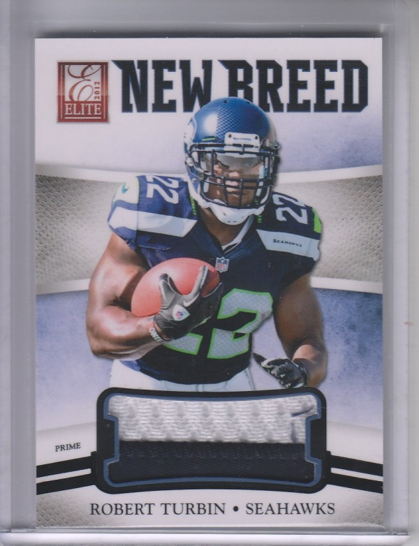 2012 Elite New Breed Jerseys Prime #33 Robert Turbin/49