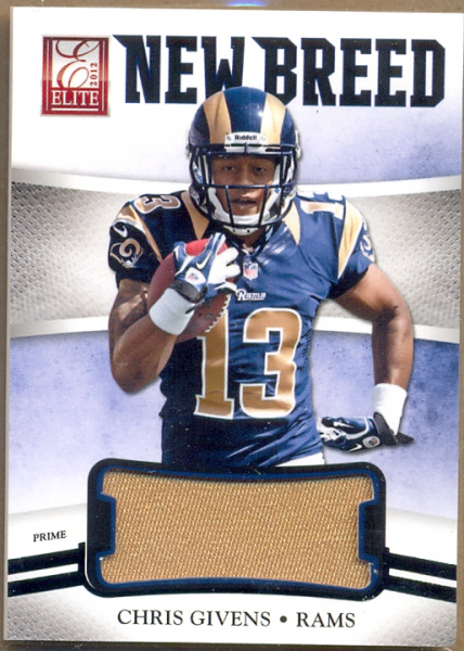 2012 Elite New Breed Jerseys Prime #34 Chris Givens/49