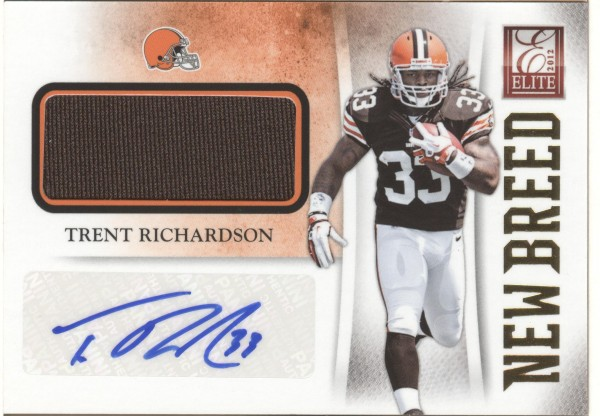 2012 Elite New Breed Jerseys Autographs #3 Trent Richardson/25