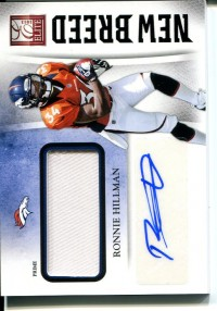 2012 Elite New Breed Jerseys Autographs Prime #22 Ronnie Hillman/25 front image