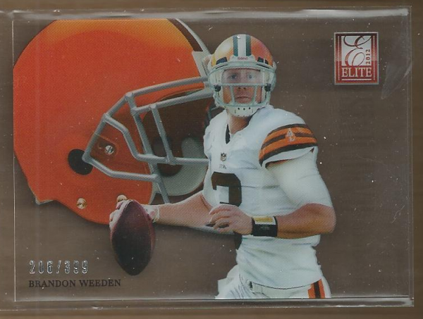 2012 Elite Rookie Hard Hats #8 Brandon Weeden