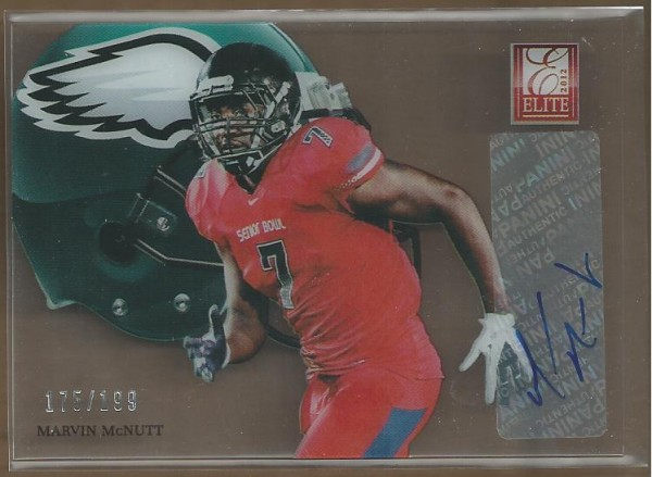 2012 Elite Rookie Hard Hats Autographs #49 Marvin McNutt/199