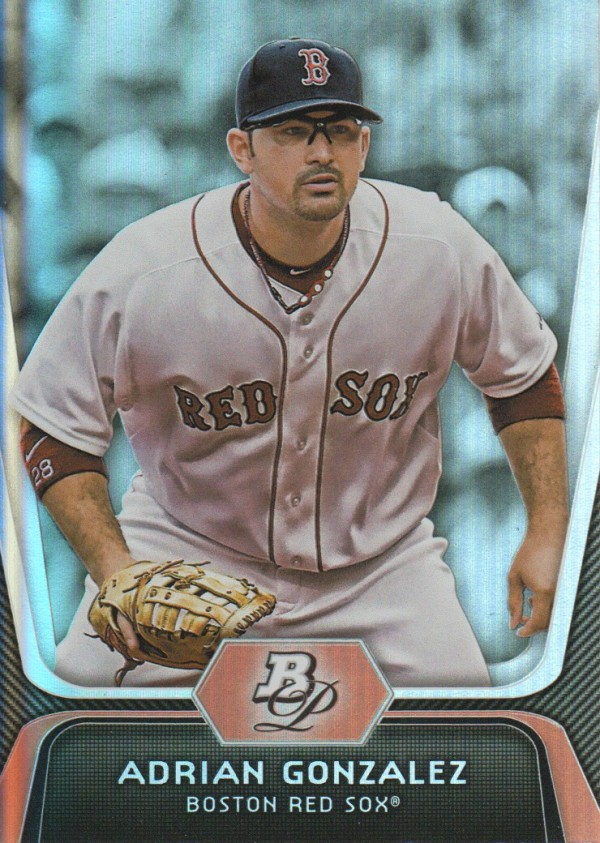 2012 Bowman Platinum #30 Adrian Gonzalez