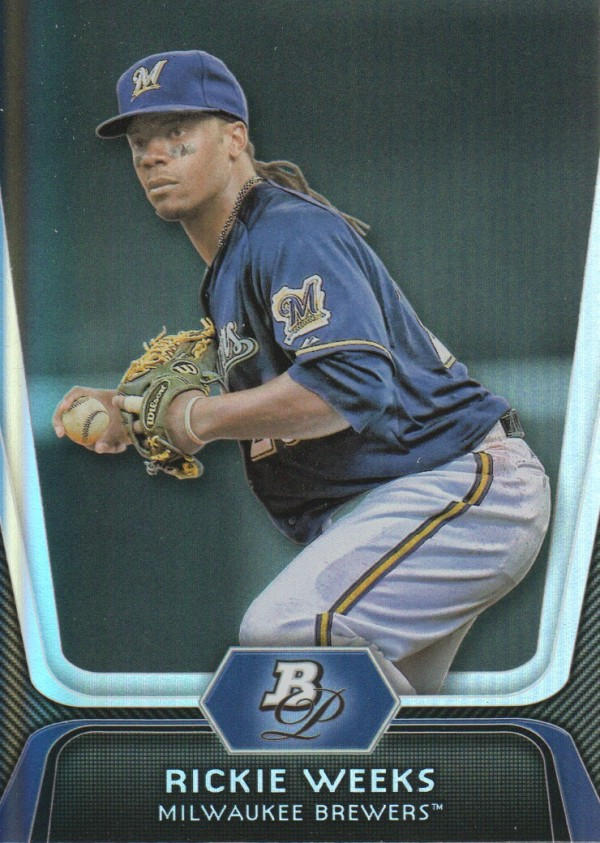 2012 Bowman Platinum #42 Rickie Weeks