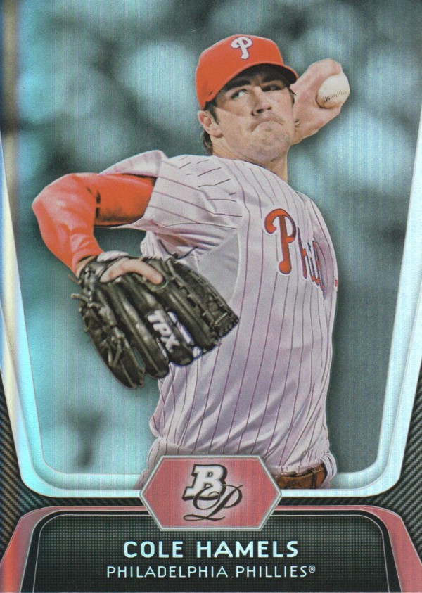 2012 Bowman Platinum #67 Cole Hamels