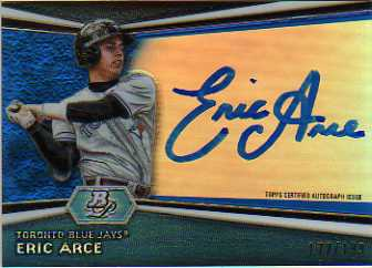 2012 Bowman Platinum Prospect Autographs Blue Refractors #EA Eric Arce