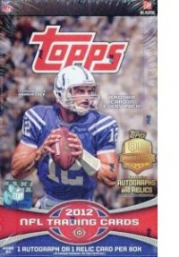 2012 Topps Football Hobby Box front image
