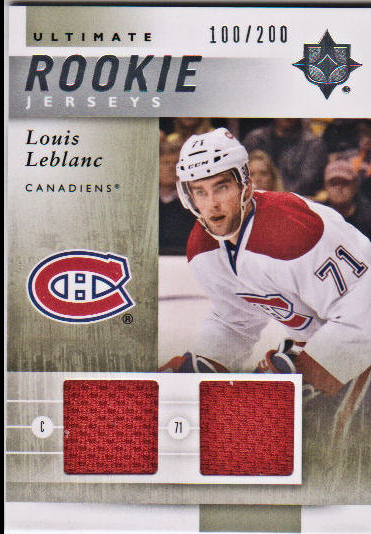 2011-12 Ultimate Collection Ultimate Rookie Jerseys #URJLL Louis Leblanc