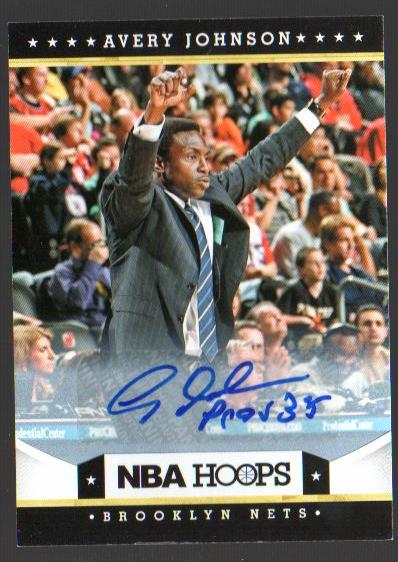 2012-13 Hoops Autographs #14 Avery Johnson CO