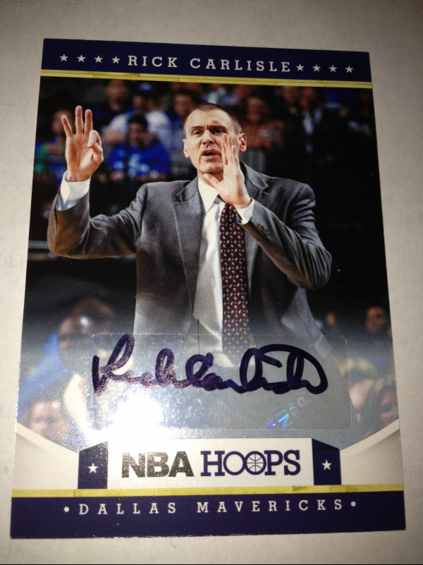 2012-13 Hoops Autographs #44 Rick Carlisle CO SP