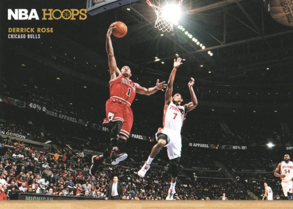 2012-13 Hoops Courtside #4 Derrick Rose