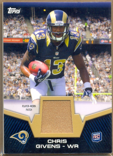 2012 Topps Rookie Patch #RPCGI Chris Givens
