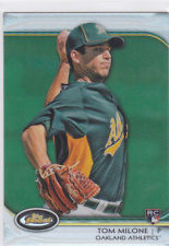 2012 Finest Green Refractors #6 Tom Milone