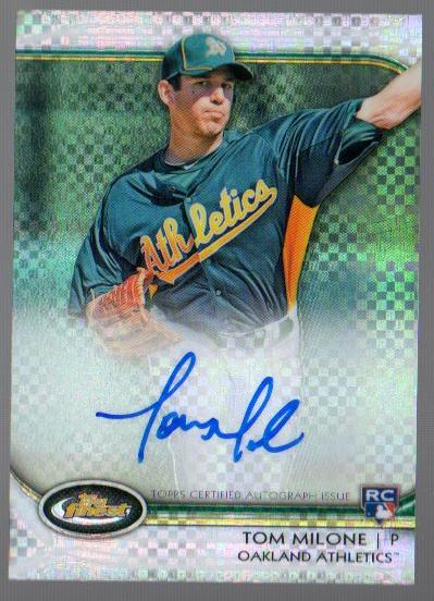 2012 Finest Rookie Autographs X-Fractors #TM Tom Milone