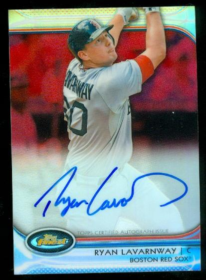 2012 Finest Rookie Autographs Red Refractors #RL Ryan Lavarnway