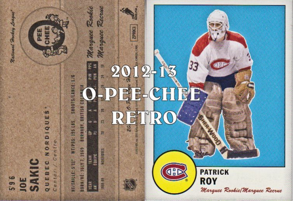 2012-13 O-Pee-Chee Retro #598 Patrick Roy