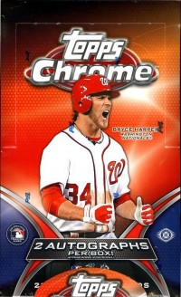 2012 Topps Chrome Baseball Hobby Box front image