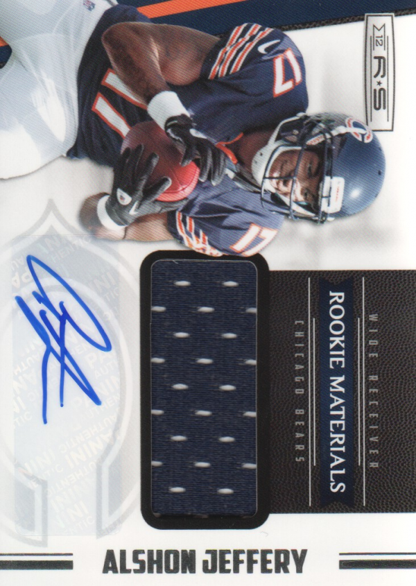 2012 Rookies and Stars #227 Alshon Jeffery JSY AU RC
