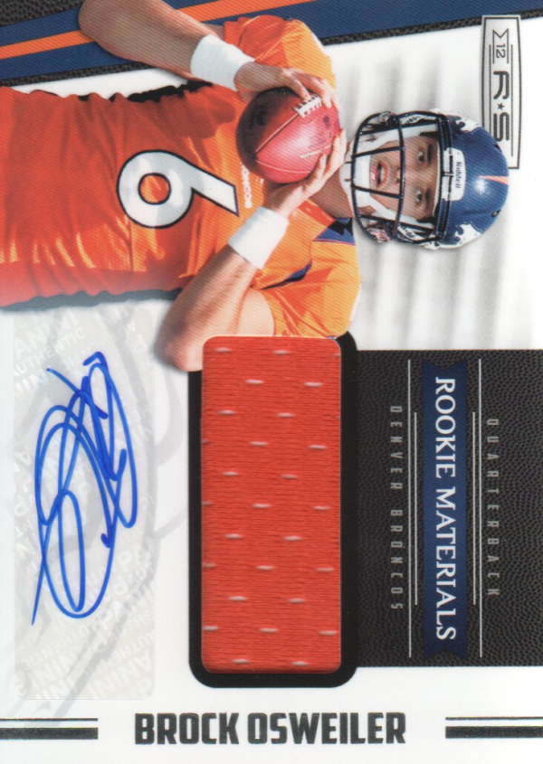 2012 Rookies and Stars #230 Brock Osweiler JSY AU RC