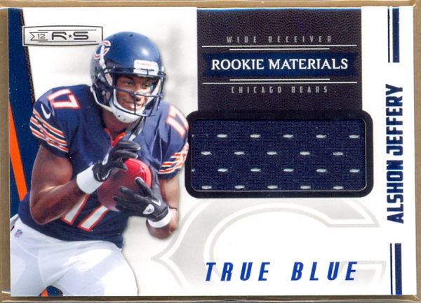 2012 Rookies and Stars True Blue #227 Alshon Jeffery JSY