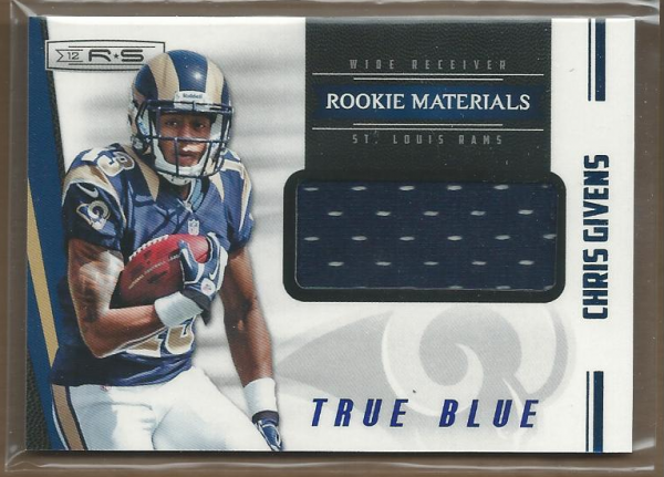 2012 Rookies and Stars True Blue #235 Chris Givens JSY