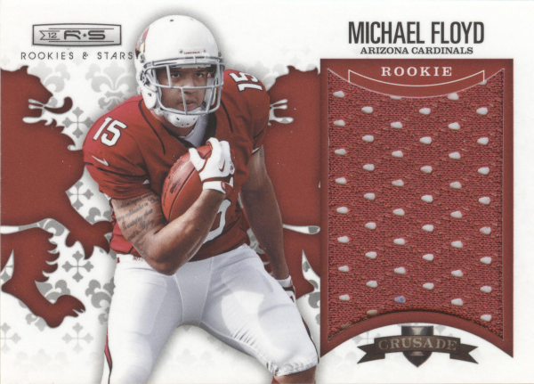 2012 Rookies and Stars Rookie Crusade Materials Red #3 Michael Floyd