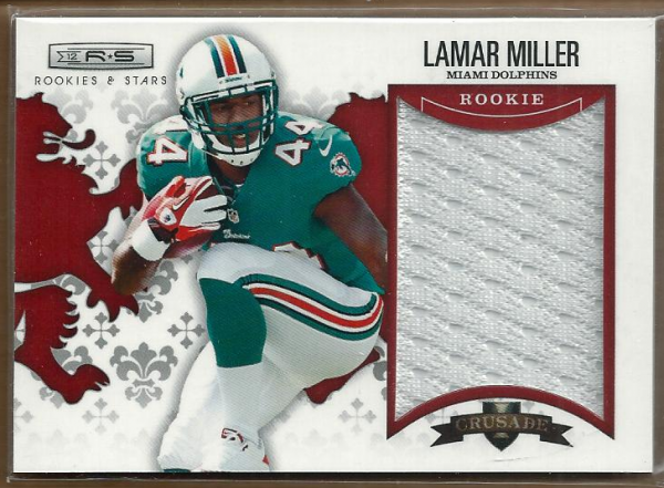 2012 Rookies and Stars Rookie Crusade Materials Red #4 Lamar Miller