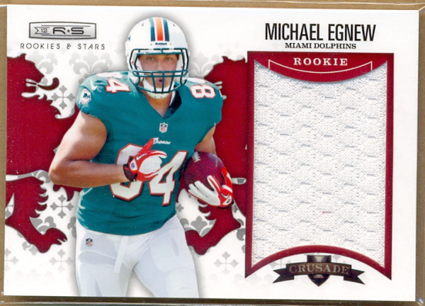 2012 Rookies and Stars Rookie Crusade Materials Red #22 Michael Egnew