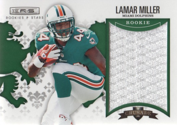 2012 Rookies and Stars Rookie Crusade Materials Green #4 Lamar Miller
