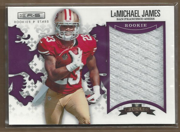 2012 Rookies and Stars Rookie Crusade Materials Purple #17 LaMichael James